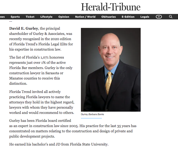 Herald Tribune Story Preview